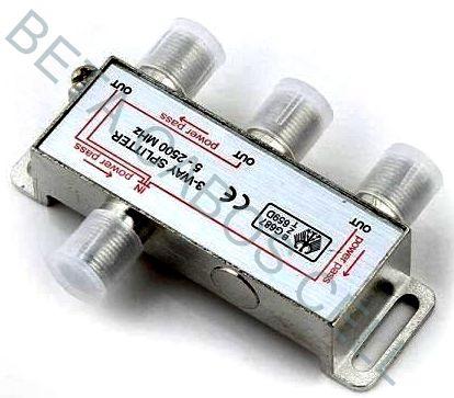 Divisor de Sinal para Antena de TV UHF  VHF CATV e Satélite 1X3 TOMATE MTC 3303
