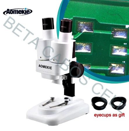 Microscópio Estéreo Binocular Aomekie 20x40