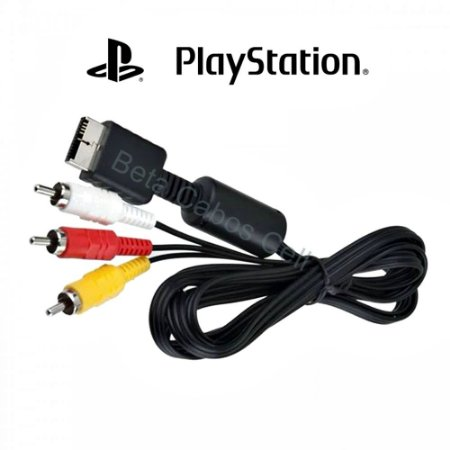 Cabo AV PS2 PS3 Audio e Video RCA para Playstation 2 e 3