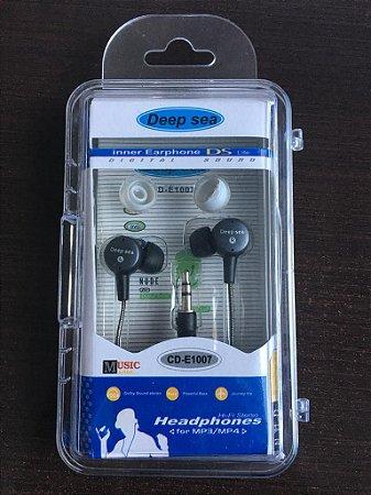 Fone De Ouvido Deep Sea Interno P1 E P2 In Ear CD-E1007 Sem Microfone
