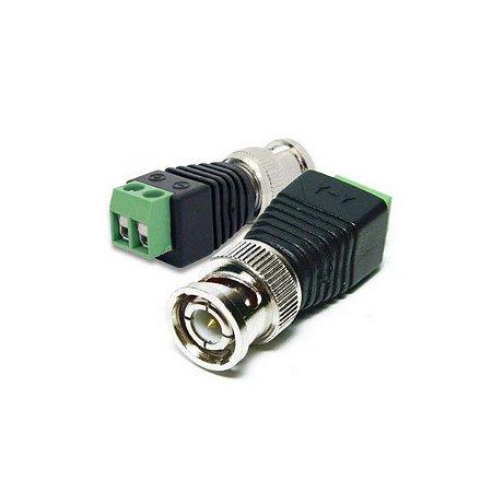 adaptador plug BNC macho com borne