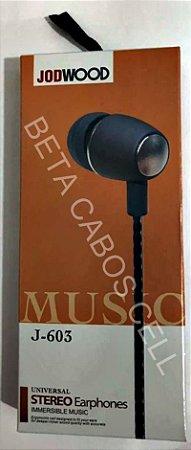 Fone Stereo Earphones JodWood J-603 J 603