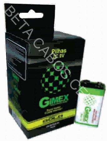 Bateria 9v Caixa Fechada Com 10 Unidades Gimex