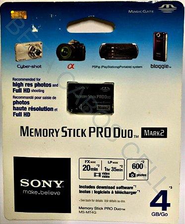 Sony Memory Stick Pro Duo Mark2 4gb Ms-mt4g