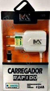 Carregador Rapido V8 Maxmidia V8 2.4A Max Car61