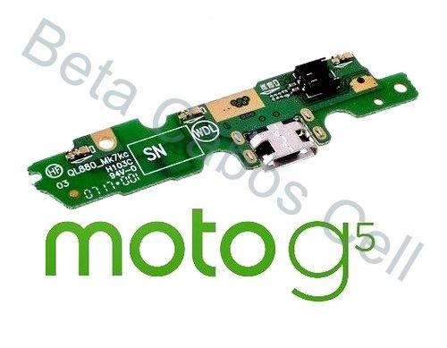 Placa Conector Carga Motorola Moto G5 Xt1672 com Microfone