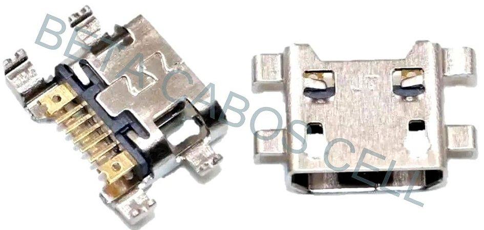 5 Pçs Conector Carga Usb Moto E4 Plus Xt1773 Xt1770