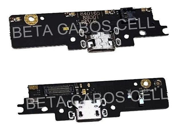 Placa Conector Carga Microfone Moto G4 Play Placa Usb Flex Xt1600