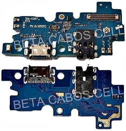 Placa Conector De Carga com Microfone Samsung Galaxy A30s A307