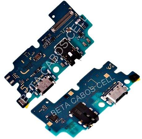 Placa Conector De Carga Placa Usb Flex Microfone e P2 A50 A505 A505f