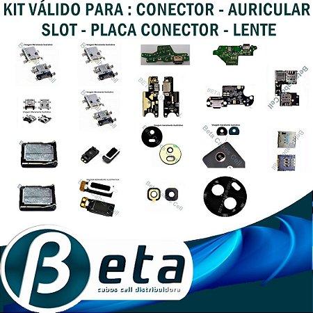 KIT CONECTORES - AURICULARES - SLOTS - PLACAS CONECTORES - LENTES - FRETE GRÁTIS