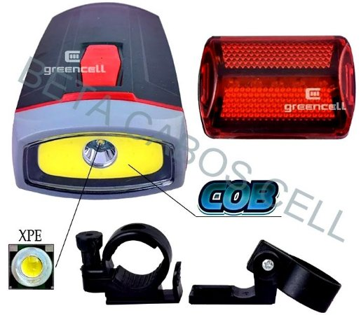 Farol Lanterna Bike Bicicleta Led Dianteiro Traseiro Forte BL-808