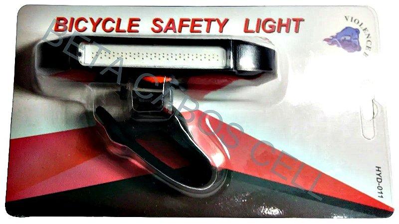 Luz De Segurança Para Bicicleta Led Cob 3 Modos HYD-011