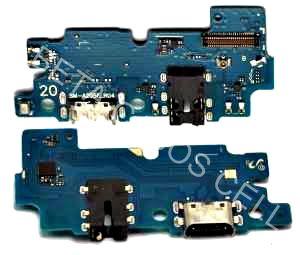 Conector De Carga Placa Dock Flex Usb para Samsung A20 com Microfone