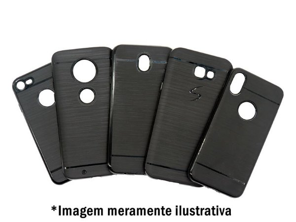 Capa Preta para Motorola Moto One Macro