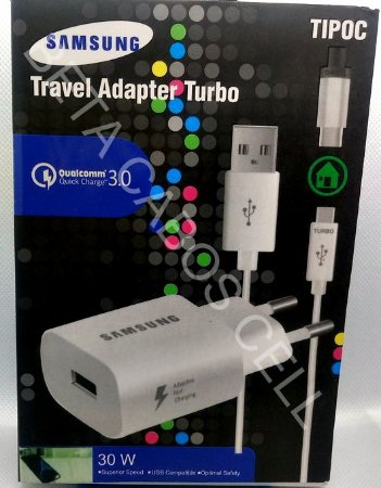 Carregador Turbo Travel Adapter Turbo  30W  TIPO C TYPE C TURBO