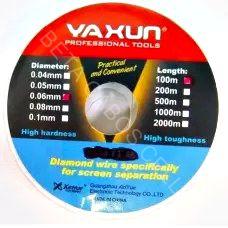 Fio de Aço Separador de LCD E TOUCH SCREEN YAXUN YX220-0.04MM YX 220