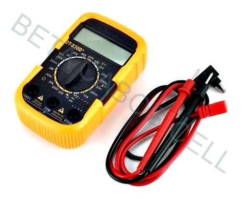 Multímetro Digital 830D+ 830 D+ Compacto Capa Silicone
