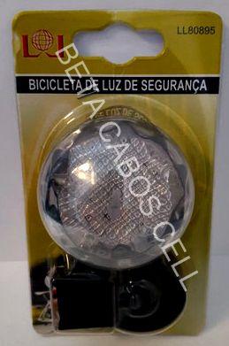 Lanterna para Bike Bicicleta LL80895 com 3 estágios de Iluminação - luz branca brilhante