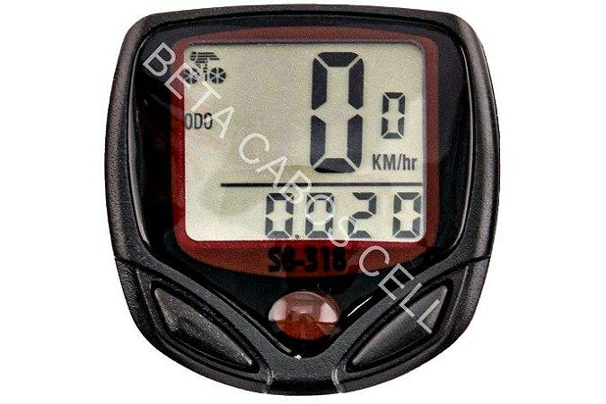 Velocímetro Digital Odômetro Bike Com Fio Bicicleta Ciclo SB 318