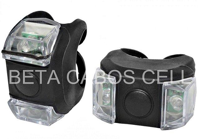 Sinalizador LED Silicone 02 Leds Quadrado Hl-009 Preto HL 009