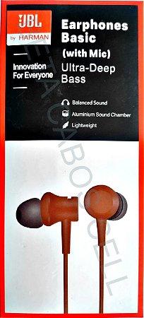 Fone JBL Ultra Deep Bass Earphones Basic Estereo P2 Ultra Deep Bass Celular Pc Notebook