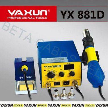Estação De Solda E Retrabalho Yaxun 881d YX -881D YX 881 D 220v  Soldadora e Sopradora