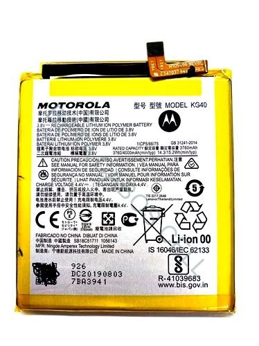 Bateria para Motorola Moto G8 Kg40 3.8v AAA Alta Qualidade