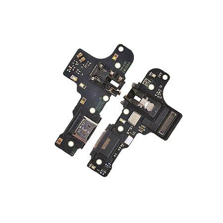 Conector De Carga Placa Dock Flex Usb para Samsung A21 com Microfone