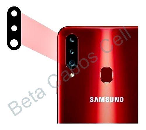Lente Vidro Câmera Traseira para Galaxy A20s Sm a207m