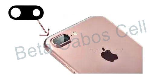 Lente Vidro Câmera Traseira para Iphone 7 Plus