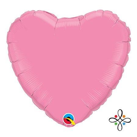 """Balão Coração Rosa - 18"""" Polegadas"""