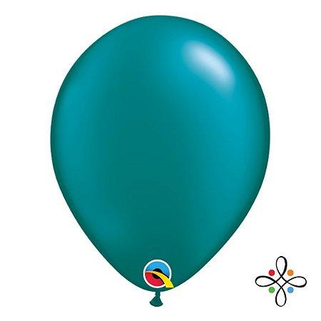 "Balão Opaco Pearl Teal - 11"""