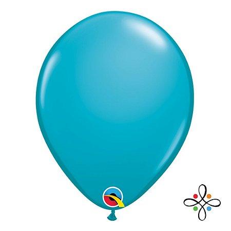 """Balão Opaco Tropical Teal - 11"""""""