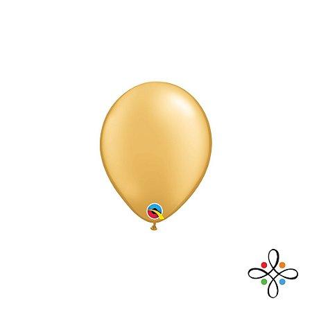 """Balão Opaco Gold - 5"""""""