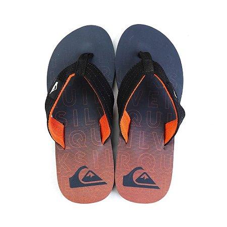 Chinelo Quiksilver Layback Orange/Black