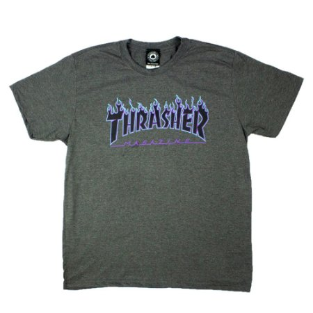 Camiseta Thrasher Purple Flame Logo