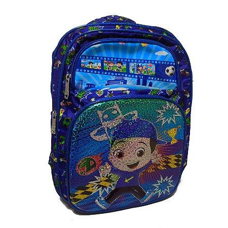Mochila Infantil Costas Escolar Azul