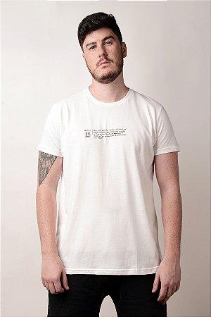 Camiseta Dicionário Branco