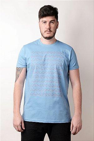Camiseta Triângulos Azul