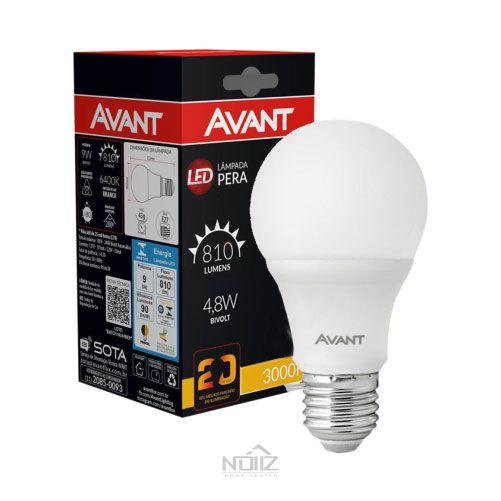 Lâmpada LED Bulbo Luz Branca 4,8W Avant Bivolt