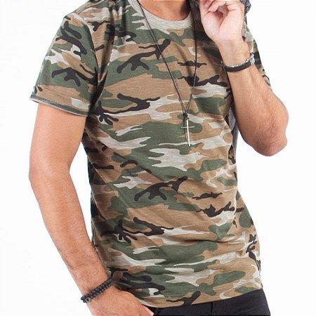 Camiseta Manga Curta Estampada - Kit Com 50 Unidades