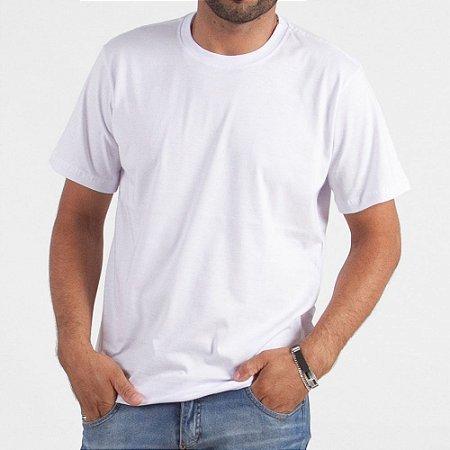 Camiseta Branca 100% Algodão - Fio 30/1 - Caixa com 10 Peças