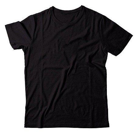 Camiseta Preta 100% Algodão - Fio 30/1 - Caixa com 10 Peças