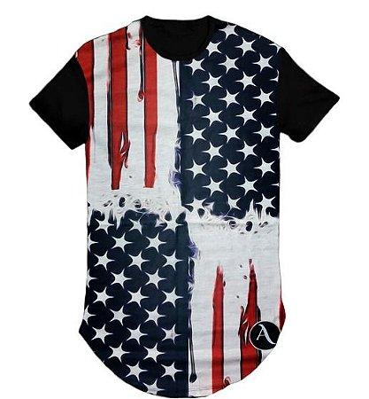 Camiseta Swag Long Line Oversized Eua- M