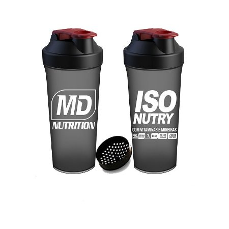 Coqueteleira Simples Iso Nutry MD Nutrition Cor preto