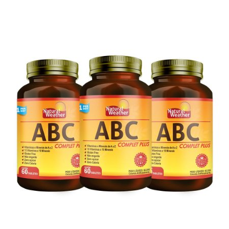 3 ABC complet Plus - Vitamina Multivitaminico Natural Weather 60 tablets