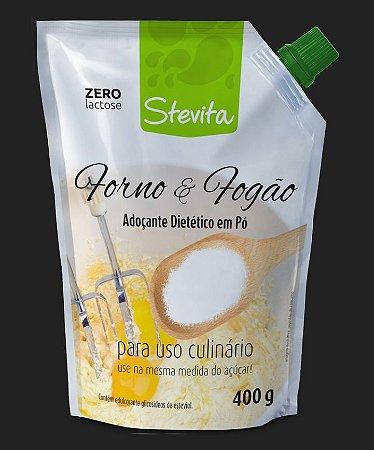 STEVITA CULINÁRIO - ZERO LACTOSE E GLÚTEN, STEVIA 100% NATURAL, MESMA MEDIDA DO AÇUCAR - 400G