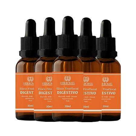 05 Unidades Elixir FitoFloral Digestivo 30ml - HerboMel Natural