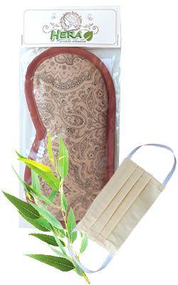 Máscara Aromática de Eucalipto Citriodora para dormir e relaxar + MÁSCARA GRÁTIS Hera Produto Artesanal